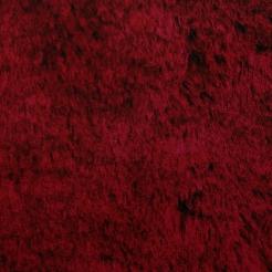 Мех искусственный трикотажный (на опушку) бордовый